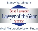 Sid Gilreath Named Medical Malpractice Lawyer of the Year for Knoxville