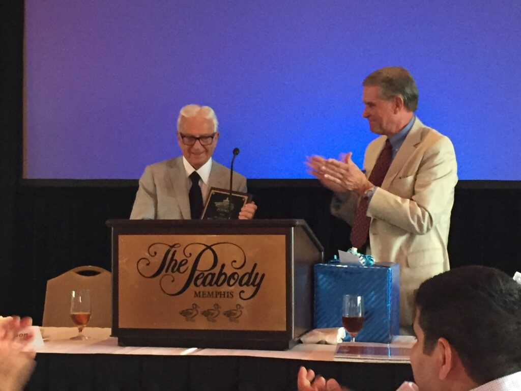 Sid Gilreath being awarded the Lifetime Achievement Award at the TAJ conference