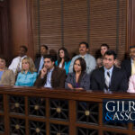 Jurors in a jury box during a Tennessee personal injury trial